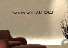 just another day in paradise beach quotes wall words decals lettering ii