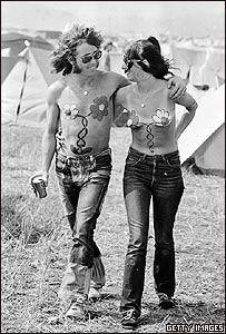 hippies flower power body paint festival