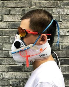 Check out this unique Off-White VaporMask design.