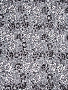 African Latest Real Wax Fabric Black Flower Grey Clothing Party 6 Yards rw3265217
