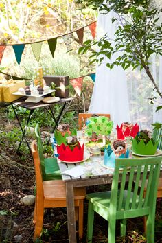 Darling woodland #birthday party theme by Acme.
