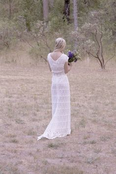 Original Vintage and Vintage Inspired 1970s Bohemian Wedding Dresses By Daughters of Simone
