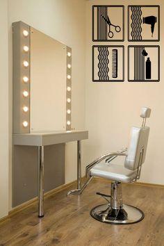 Wall Decal Vinyl Sticker Room Art Decor Hair Salon Signs Fan Scissors Comb 1337