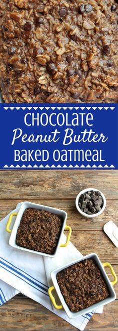 Chocolate Peanut Butter Baked Oatmeal is the best way to start off your day. This easy, healthy breakfast will keep you full throughout the day!