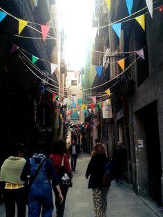 Gothic quarter #flags #street