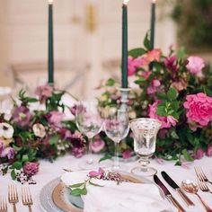 fuchsia wedding florals