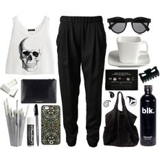 crâne. by cauchemar-exquis on Polyvore featuring 3.1 Phillip Lim, Ganni, DANNIJO, Illesteva, Crate and Barrel, Areaware, Chapstick and modern