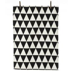 Ferm LIVING Triangle Tea Towel, Black