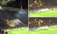 Borussia Dortmund's famous Yellow Wall celebrate win over rivals Bayern Munich in spine-tingling fashion