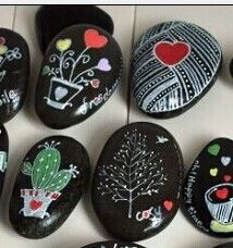 Painted rocks: start with black