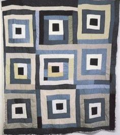 A Gee's Bend quilt in patriotic colors by Alabama Folk School instructor, China Pettway.