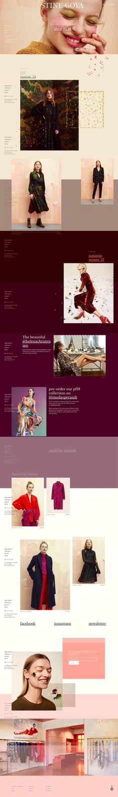 eCommerce website: Stine Goya
