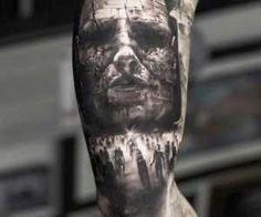 Horror tattoo Tymur Denysenko