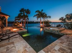 LHM Tampa Bay - Breathtaking sunsets! Gulf front Campagna estate with 250' of true waterfront including a negative edge pool, full outdoor kitchen with fireplace, private beach and boat dock. this 6,000+ sq ft home offers 5 bedrooms, 5.5 baths, office, game & theatre rooms, and a refrigerated wine room holding 300 bottles. Structurally built with concrete block construction, 72 pilings and Pella hurricane-thermal windows & sliders. Dressed to impress, the immaculate grounds will have ...