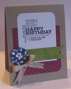 Stampin' Up -- Birthday Card