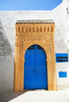 Certain countries consistently have the most beautiful doors. Morocco is one. The one pictured here is in the medina of Essaouira and features the perfect Moroccan blue.