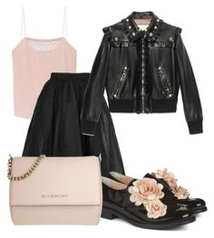 """""""Untitled #676"""" by alexandrawaldorf ❤ liked on Polyvore featuring Tanya Taylor, Topshop, Gucci, Pokemaoke and Givenchy"""