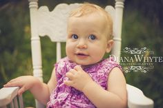 first birthday baby girl www.DianaWhytePhotography.com