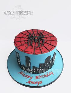 Spiderman themed cake
