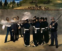 The Execution of the Emperor Maximilian, by Édouard Manet 1868