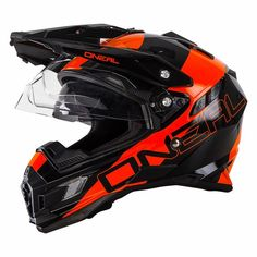 4103bd68 #apparel O Neal Sierra Adventure Motocross Helmet Orange Off Road Dual  Sport Motorcycle please retweet