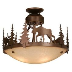 Vaxcel Yellowstone CF55618BBZ Semi Flush Mount Light - Semi Flush Mount Lights at Hayneedle