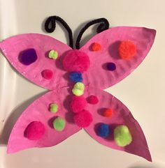 Butterfly from paper plate