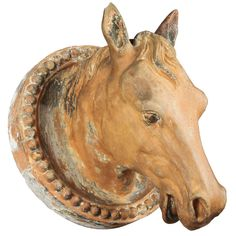 French Terracotta Horse Head | From a unique collection of antique and modern architectural elements at http://www.1stdibs.com/building-garden/architectural-elements/