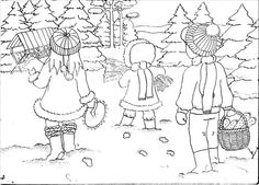 Adult Coloring, Winter, Projects, Animales, Adult Colouring In, Winter Time, Log Projects, Blue Prints, Winter Fashion