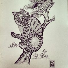 Korea tiger with magpie. This one is an available. #tattoo #koreatiger #magpie #ltwtattoo