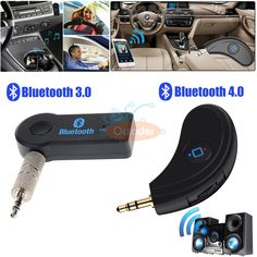 Bluetooth+Wireless+3.5mm+AUX+Audio+Adapter+Stereo+Music+Home+Car+Mic+Receiver
