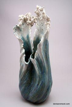 Pottery Vase, Ceramic Pottery, Ceramic Art, Slab Pottery, Thrown Pottery, Ceramic Bowls, Abstract Sculpture, Sculpture Art, Ceramic Sculptures