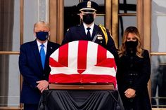 Trump Booed as He Pays Last Respects to Justice Ruth Bader Ginsburg United States Politics and Government Funerals and Memorials