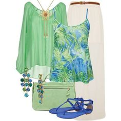 This green and blue outfit is a must for Apostolics! It's cute and modest!
