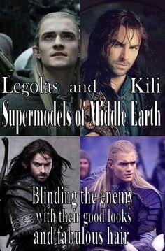 Legolas and Kili, Supermodels of Middle Earth.