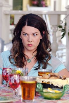I Logged Everything Rory & Lorelai EVER Ate On Gilmore Girls #refinery29  http://www.refinery29.com/2016/11/130329/gilmore-girls-food-diary#slide-20  Season 5 Episode 1: Say Goodbye to Daisy MillerIced teasBreadEpisode 2 : A Messenger, Nothing MoreCoffee and a doughnutA triple espressoSodaRootbeerPotato chips, pizza with steak sauce, Chinese Episode 3: Written in the StarsMartinis, coke, Hungarian cheeseFennel-potato soup with a touch ...