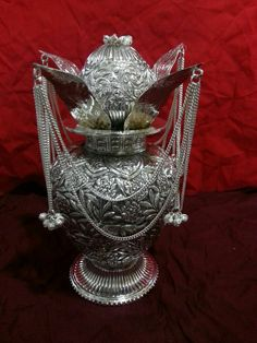 Silver plated Kalash for Diwali Puja