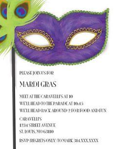 masquerade invitations template