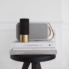 #BeoplayA2 tone-on-tone still life by @atelierribe #design #store #Kinfolk #speaker #grey #home #interior