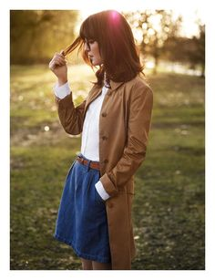 Irina Lazareanu & Alex James for Aubin & Wills, Spring- Denim white and beige, what more could i ask for in an outfit