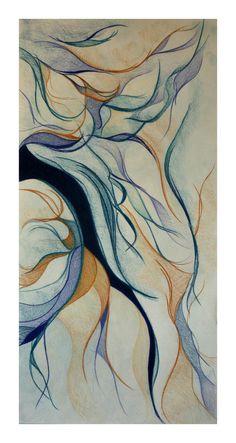 """Saatchi Online Artist: Erin Oliver; Pencil, 2011, Drawing """"Dark streak"""""""