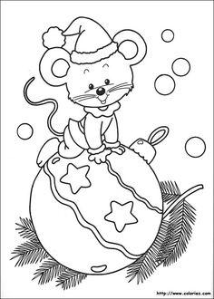 Coloriage d'une jolie boule de Noël