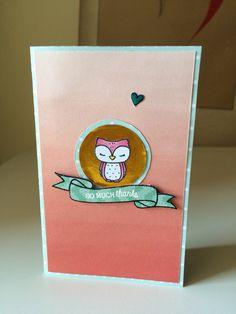 Thanks Card 2015 using mama elephant charmed stamp set