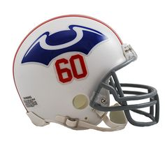 New England Patriots Throwback 1960 Riddell Z2B Mini Helmet