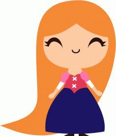 Silhouette Online Store - View Design #57471: cute rapunzel princess