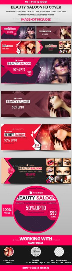 Beauty Saloon Facebook Cover - 4 Design - #Facebook #Timeline Covers #Social Media Download here: https://graphicriver.net/item/beauty-saloon-facebook-cover-4-design/19462239?ref=alena994