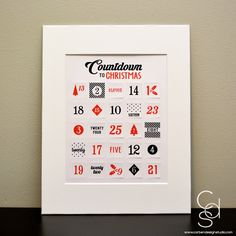 Countdown to Christmas Advent Calendar with Photo Mat