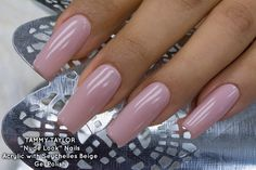 ♥ LONG TAPERED SQUARE NUDE LOOK NAILS