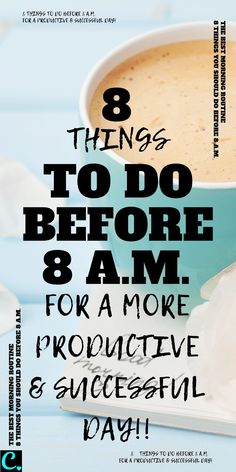 The best morning routine: 8 things to do before – A captivating crazy Productive Things To Do, Habits Of Successful People, Productive Day, Healthy Morning Routine, Morning Habits, Morning Routines, 5am Club, Evening Routine, Morning Ritual