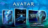 """AVATAR 3D DISC SET (NO 3D YET!)  The three-disc """"Extended Blu-ray Collector's Edition"""" of""""Avatar"""" (Fox) is released today (16 November 2010), beginning with a handsome glossy book-style package with unique slide-out drawers for each disc inside vibrant colorful pages.  There are three versions of the biggest moneymaking film in history, one 9-minutes longer and one 16-minutes longer than the original theatrical release, plus a LOT of bonus video, but none are in 3D !"""